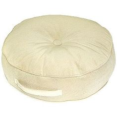 Greendale Home Fashions -20-inch Round Floor Pillow - Hyatt fabric -  Cream.