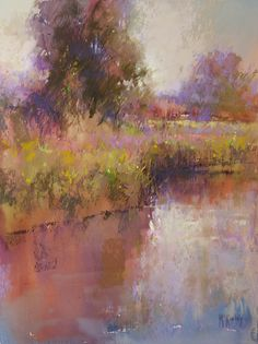 Atmospheric Reflection by Richard McKinley Pastel ~ 16 x 12