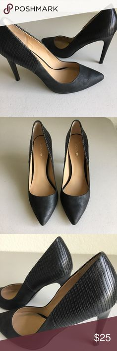 "Joe's Black Heels Black leather upper 4"" heels, size 9.5, in very good pre used condition, no stains,  no holes. These look great with jeans  Joe's Jeans Shoes Heels"