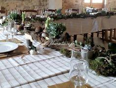 Décoration de table nature.