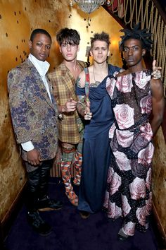The UNISEX rebel gang at the Vivienne Westwood & Another Man Psychedelic Unisex party. #VivienneWestwoodBespoke #AnotherMan10Years Picture: Darren Gerrish