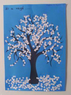 1maman2filles activit s manuelles arbre d hiver bricolages d 39 hiver pour enfant pinterest - Activite manuelle maternelle hiver ...