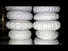 Pottery: Using Ceramic Texture Rollers DIY - YouTube