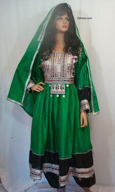 Lovely Green Afghan Dress from:  http://www.zarinas.com/