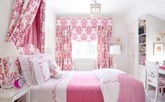 Big pink bedroom cozy bedroom with wooden furniture brown curtains Girls Bedroom, Room Decor For Teen Girls, Pink Bedroom Decor, Pink Bedrooms, Decor Room, Little Girl Rooms, Cozy Bedroom, Home Decor, Bedroom Ideas