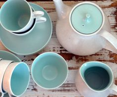 Blue Poole Tea Set by MistressMiller on Etsy, $195.00
