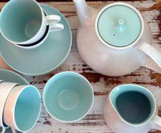 blue poole tea set