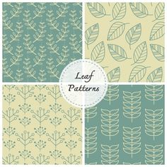 Leaves patterns collection Free Vector