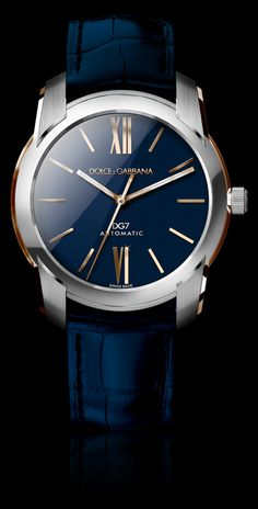 Men's Watch - Steel and Gold with Blue Dial - D&G Watches | Dolce & Gabbana Watches for Men and Women Nice Mens Watches, Top Watches For Men, Stylish Watches, Wrist Watches, Men's Watches, Male Watches, Casual Watches, Watches Online, Cool Watches