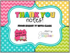 """This is a set of 8 editable thank you notes in chevron and polka-dots! You will need powerpoint to open and edit the file. If you would prefer to hand write your thank you notes, you can print a blank copy from the PDF. Please note, you will not be able to edit the background, frame or words """"thank you"""", you will just be able to add your own message."""