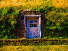 Ancient wood door on an an Icelandic sod house.  Read more: Hobbit-Style Turf Homes: Sustainable Houses that Lasts for Centuries hobbit house icelandic flag – Inhabitat - Sustainable Design Innovation, Eco Architecture, Green Building