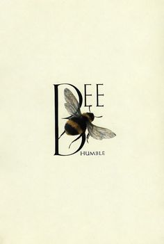 'Bee Humble' - Illustration by Marie Angel, from An Animated Alphabet. Schrift Design, I Love Bees, Bee Art, No Rain, Bee Happy, Save The Bees, Busy Bee, Bees Knees, Queen Bees