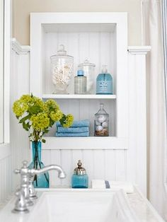 medicine cabinet turns open shelves by sherrie