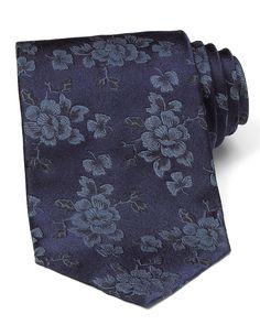 Paul Smith Grey Floral Tie, $105
