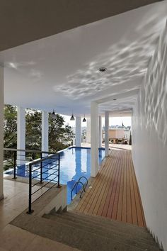 Covered outdoor pool!!! Bebe'!!! Really nice design!!!