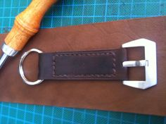 Panerai Style handmade leather keychain with by CentaurStraps, €20.00