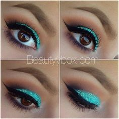 Teal Glitter! love it