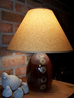 What looks like a beautiful stoneware lamp ~ By Simone Allwood of Black Fox Pottery