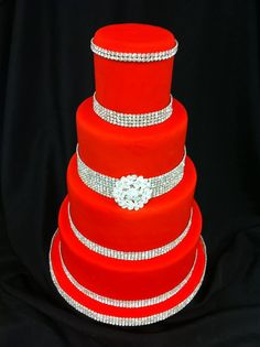 nice 55 Beautiful Red And Silver Wedding Cake Everybody Will Love  https://viscawedding.com/2017/07/06/55-beautiful-red-and-silver-wedding-cake-everybody-will-love/
