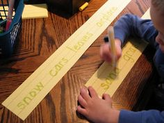 Thematic word trace, The Stay-at-Home-Mom Survival Guide: Preschool Activities