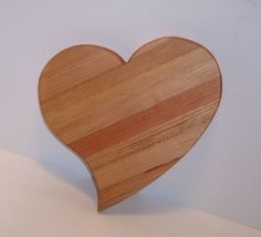 Heart Shaped Cheese Cutting Board by tomroche on Etsy, $14.00