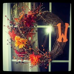 My fall wreath i made. :)