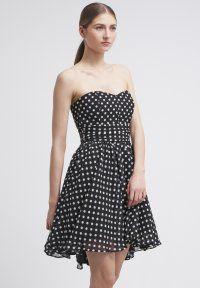 Swing - Vestido informal - schwarz/cremeweiß