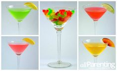 4 Mike and Ike martinis:  http://www.allparenting.com/my-table/articles/965979/4-mike-and-ike-martinis