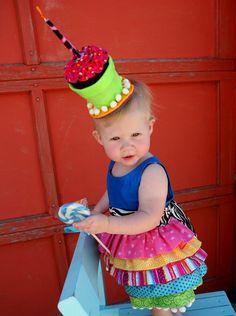 Cupcake Hat @Emily Schoenfeld Schoenfeld Alden- Rylee's birthday outfit