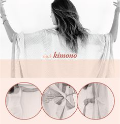 how to wear a scarf as a kimono