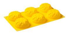 """MULTISTAMPO """"Girasole"""" - PAVONI ITALIA s.p.a.  Stampo multiporzione n° 6 moduli, in silicone platinico.  Dimensioni piastra: 300x175mm Diametro Modulo: 75mm Altezza Modulo: 35mm"""