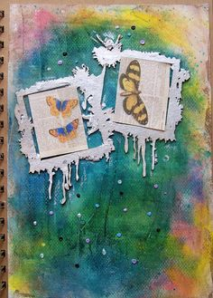 Joanna i scrappasja blog o scrapbookingu: Art journal - motyle