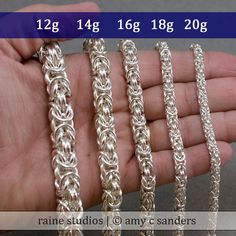 18g Byzantine Necklace Chainmaille Kit in by rainesupplies on Etsy