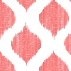 Sabrina Ikat in Coral  fabric by sparrowsong on Spoonflower - custom fabric