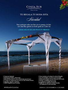 Participa en nuestro concurso para ganar tu #Boda gratis en #CostaSur #PuertoVallarta.  Click aquí: http://on.fb.me/1zOEHTf