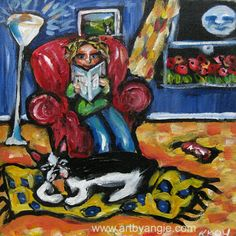 Boston Terrier original painting by Angie Ketelhut on etsy $125