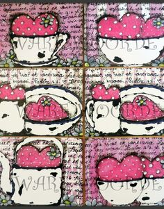 GP x 6 My Beker Loop Oor Stel – Gelamineerde Plekmatjies Afrikaans, Brush Strokes, Hello Kitty, Cupcake, Arts And Crafts, Snoopy, Pastel, Comics, Quotes