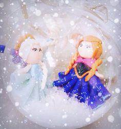 Décoration - Boule de Noël, reine des neiges