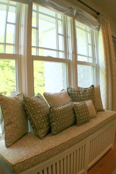 Radiator Cover Window Seat Design Ideas, Pictures, Remodel and Decor