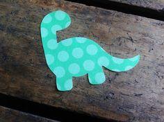 green dinosaur diy iron on fabric applique by lanaellison on Etsy, $1.95