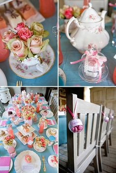 Tea Party {Bridal Shower Inspiration} | {Be Inspired, Kitchen Tea} | The Pretty Blog   Super freaking cute idea