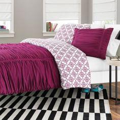 2 Queensize Bedspreads for Monéa & mommy :) Reagan Reversible Comforter Set in Fuchsia - BedBathandBeyond.com