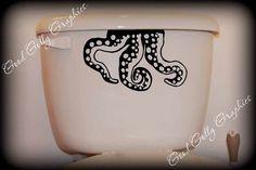 Octopus toilet decal!