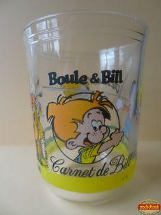 Verre Moutarde Maille ... BOULE & BILL ** Carnet de Bill