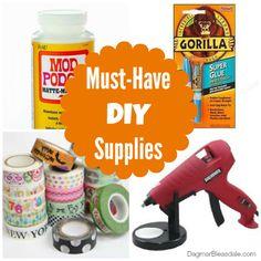 Must-have DIY supplies. #DIY #crafts #ebayguides #spon #modpodge #gluegun