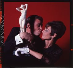 """Peter O'Toole and Audrey Hepburn getting silly during a photo shoot for """"How To Steal A Million."""" © 2014 FOX All Rights Reserved"""