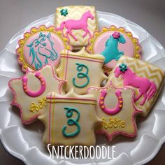 Girly horse cookies by Snickerdoodle Sweets