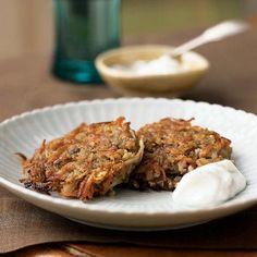 Parsnip-Potato Latkes with Horseradish Cream   MyRecipes