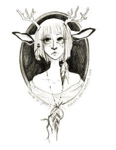 roe-deer girl by Fukari.deviantart.com on @deviantART