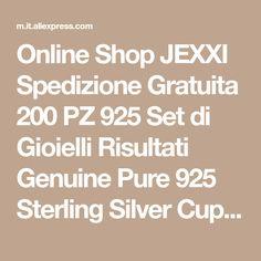 Online Shop JEXXI Spedizione Gratuita 200 PZ 925 Set di Gioielli Risultati Genuine Pure 925 Sterling Silver Cup Cap Connettore Cauzione Per Il Pendente | Aliexpress Mobile